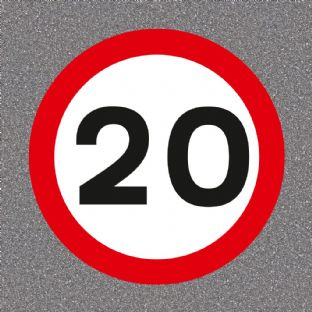 20 mph Speed Limit Road Sign